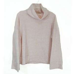 A New Day long sleeve cowl neck pale rose XL top